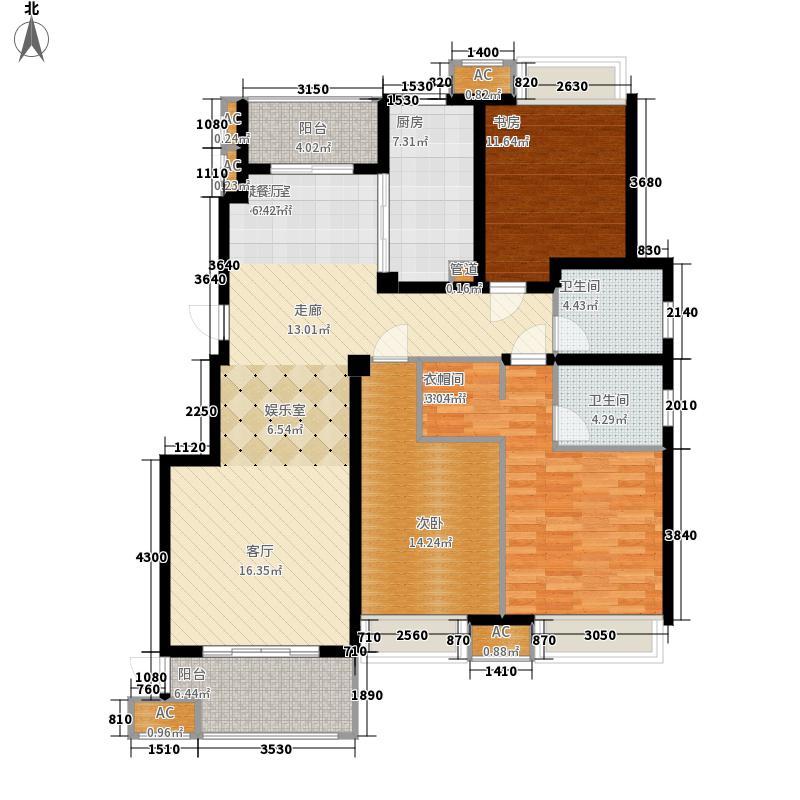 华泽天下131.00㎡一期18号楼、二期13号楼C4-13#户型