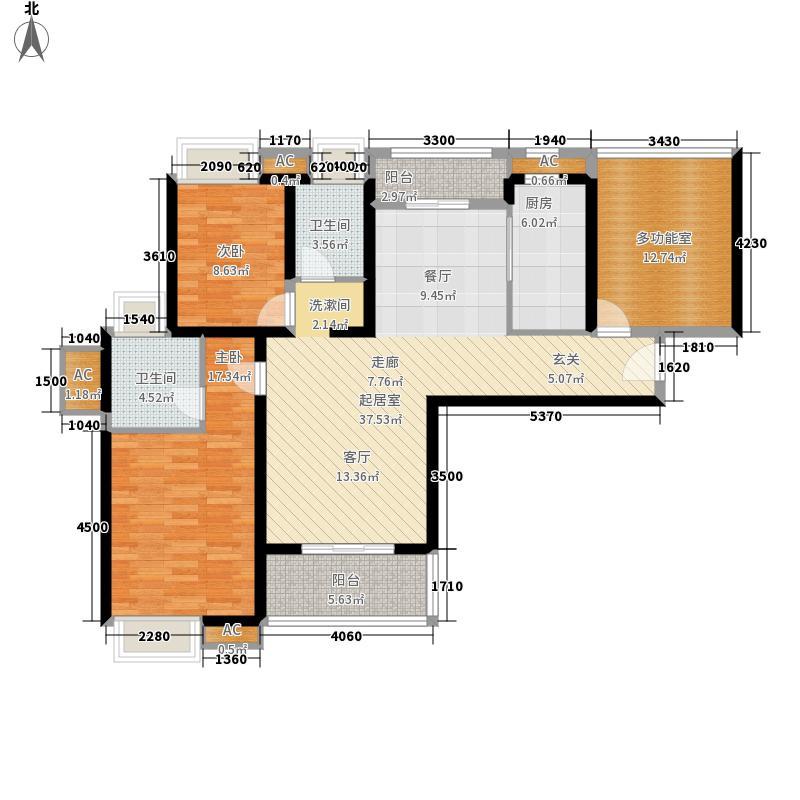 南沙珠江湾121.00㎡F栋042+N户型