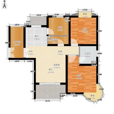 盛世宝邸2室0厅2卫1厨94.00㎡户型图