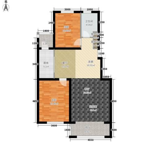 半山居2室0厅1卫1厨118.00㎡户型图