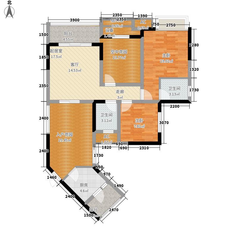 汇祥好莱坞76.16㎡二期7号楼标准面积7616m户型