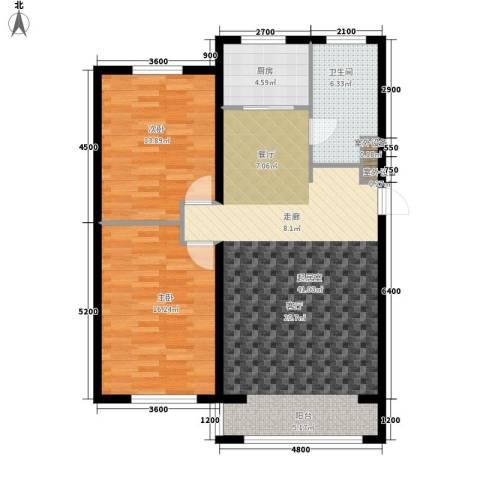 半山居2室0厅1卫1厨114.00㎡户型图