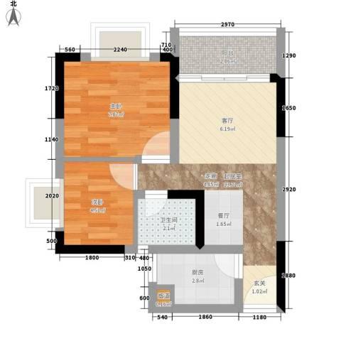 城市印象2室0厅1卫1厨41.00㎡户型图