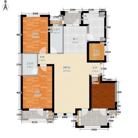 体育嘉苑3室0厅2卫1厨143.00㎡户型图