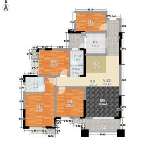 滨江翡翠城4室0厅2卫1厨106.00㎡户型图