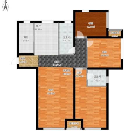 乾瑞・嘉山墅3室1厅2卫1厨172.00㎡户型图