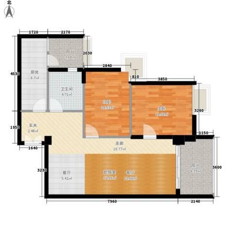 翠竹苑2室0厅1卫1厨95.00㎡户型图