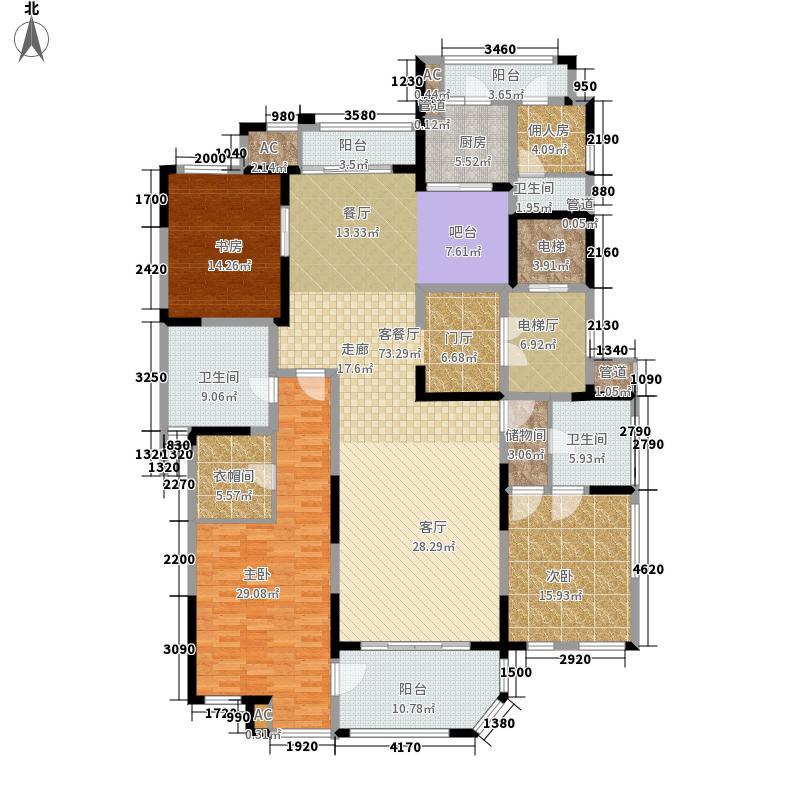 海珀兰轩227.00㎡1#楼标准层面积22700m户型