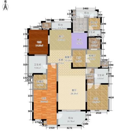 海珀兰轩3室1厅3卫1厨227.00㎡户型图
