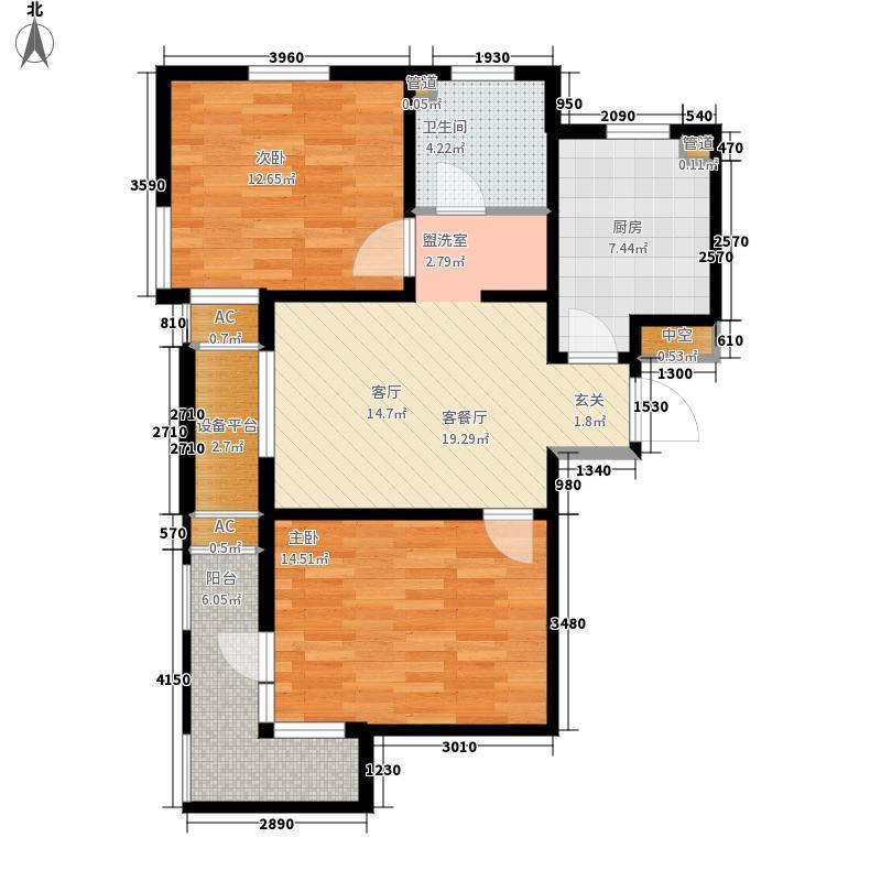 御景双苑78.63㎡C1户型2室1厅