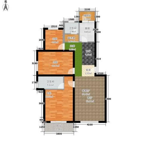 白河涧别墅3室1厅2卫1厨112.00㎡户型图