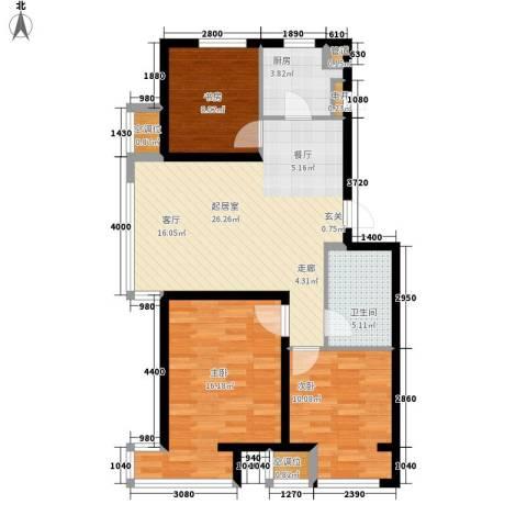 金域蓝山3室0厅1卫1厨103.00㎡户型图