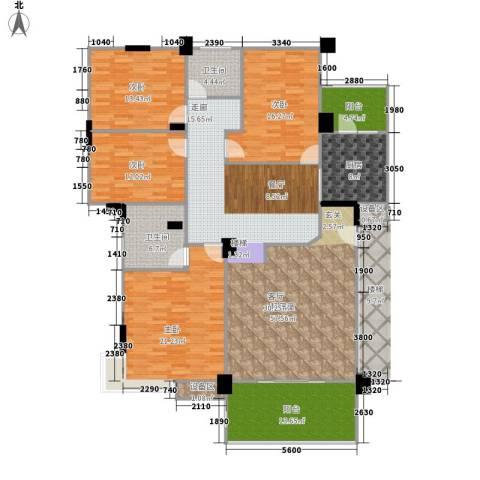 金色华庭4室0厅2卫1厨171.00㎡户型图