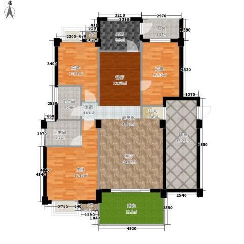 金色华庭3室0厅2卫1厨143.00㎡户型图