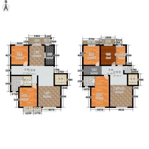 雨花五金机电市场居民楼5室0厅3卫1厨345.00㎡户型图