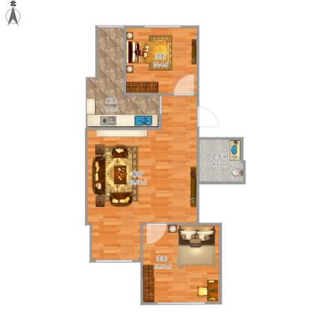 天通苑东一区2室1厅1卫1厨89.00㎡户型图
