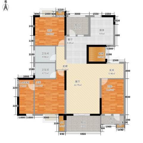 国奥天地3室0厅2卫0厨165.00㎡户型图