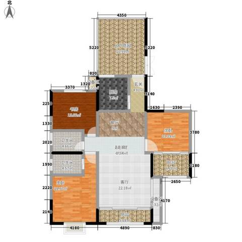 中天枫景3室0厅2卫1厨161.00㎡户型图