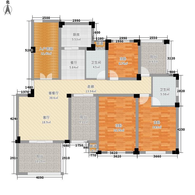 紫园140.80㎡花园洋房3、6、7、10号楼二楼D-A户型