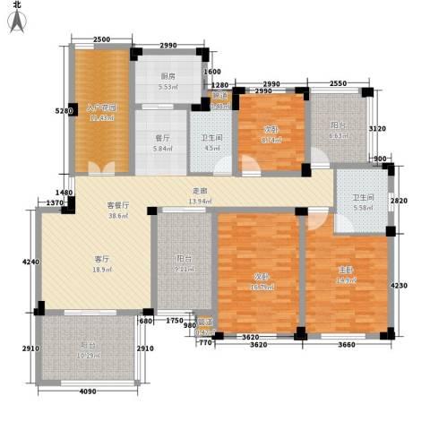 紫园3室1厅2卫1厨141.00㎡户型图