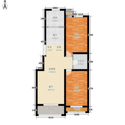 中景华庭2室0厅1卫1厨124.00㎡户型图