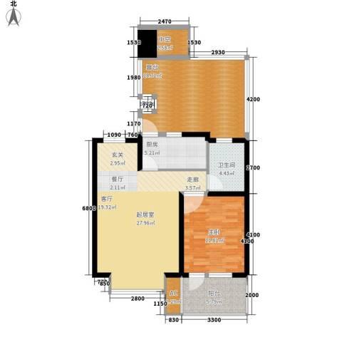 天江格调花园1室0厅1卫1厨77.26㎡户型图