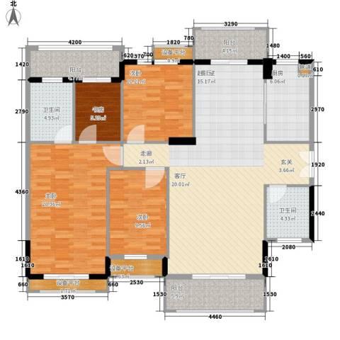 长沙玫瑰园4室0厅2卫1厨138.00㎡户型图