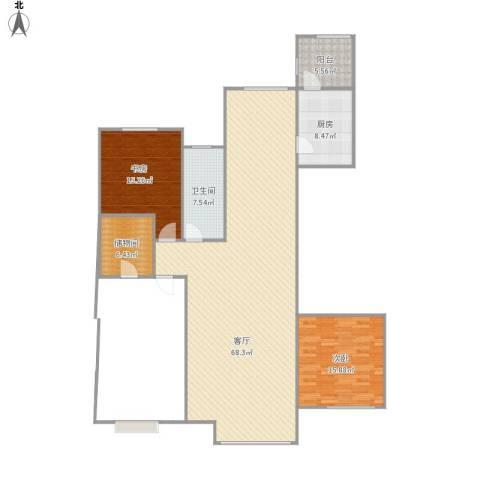 哈尔滨星光耀广场2室1厅1卫1厨169.00㎡户型图