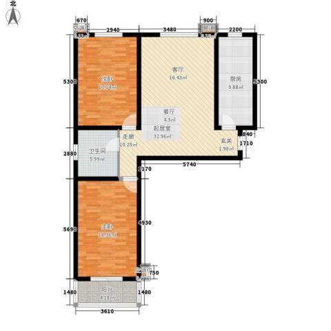 中景华庭2室0厅1卫1厨127.00㎡户型图