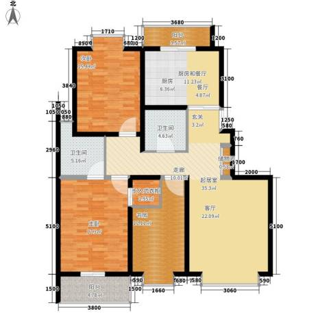 天江格调花园3室0厅2卫0厨147.00㎡户型图