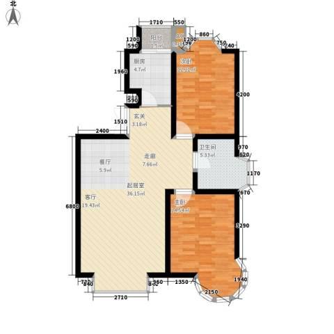 天江格调花园2室0厅1卫1厨99.00㎡户型图