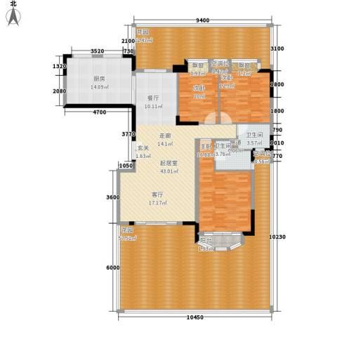 中仪花园3室0厅2卫1厨187.22㎡户型图