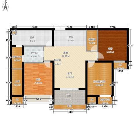 东冠逸品花园2室0厅1卫1厨158.00㎡户型图