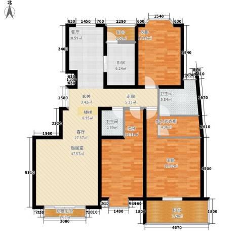 天江格调花园3室0厅2卫1厨165.00㎡户型图