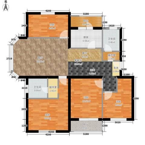 白河涧别墅4室1厅2卫1厨126.00㎡户型图