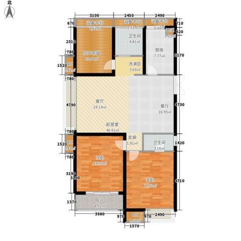 东冠逸品花园2室0厅2卫1厨159.00㎡户型图
