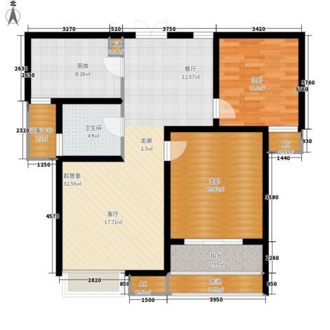 东冠逸品花园2室0厅1卫1厨120.00㎡户型图