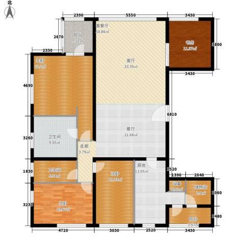 US联邦公寓4室1厅2卫1厨229.00㎡户型图