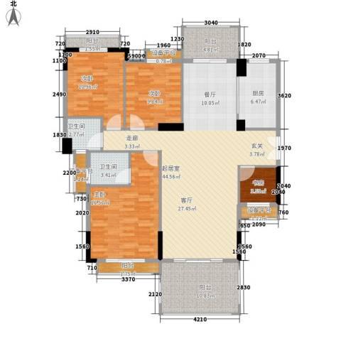 长沙玫瑰园4室0厅2卫1厨150.00㎡户型图