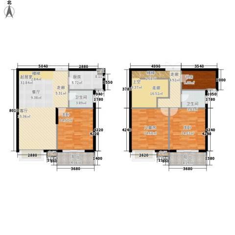 天悦花园4室0厅2卫1厨136.00㎡户型图