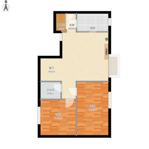 天朗国际广场2室1厅1卫1厨90.00㎡户型图
