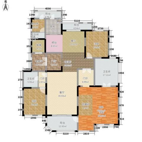 海珀兰轩3室1厅3卫1厨259.00㎡户型图