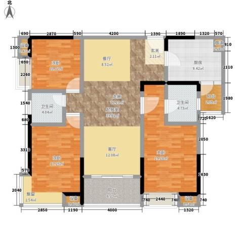 城市印象3室0厅2卫1厨115.65㎡户型图