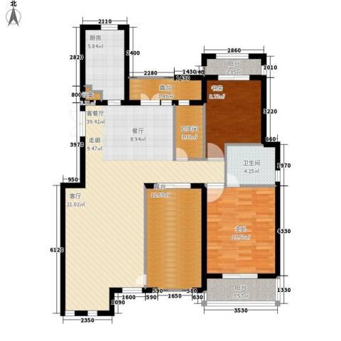 阳光聚宝山庄臻园2室1厅2卫1厨111.00㎡户型图