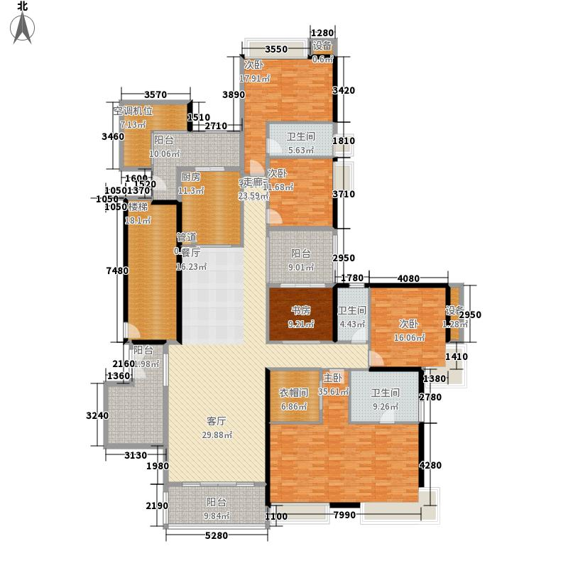 富力君湖华庭261.00㎡T1栋26-42层面积26100m户型