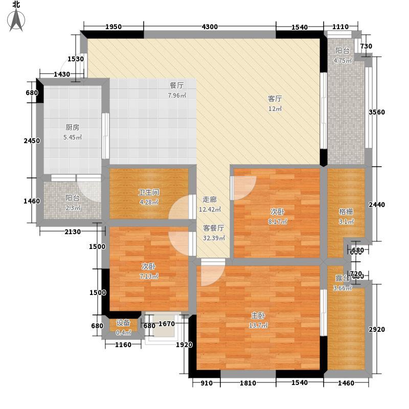 北城映像95.89㎡一期7号楼标准层A2户型