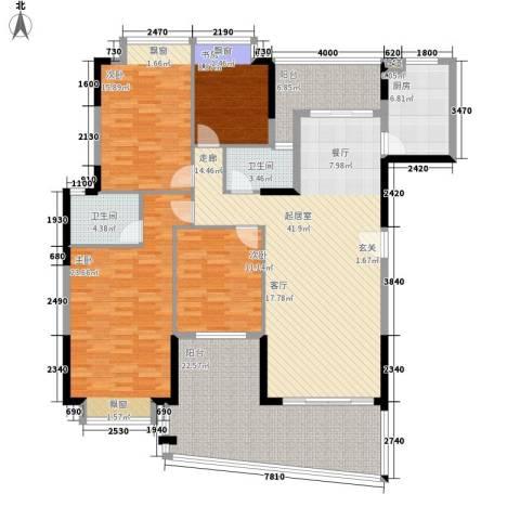 富逸臻园4室0厅2卫1厨161.00㎡户型图