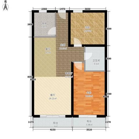 博鳌阳光海岸2室1厅1卫1厨94.00㎡户型图