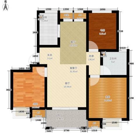 太湖相王府3室1厅1卫1厨100.00㎡户型图