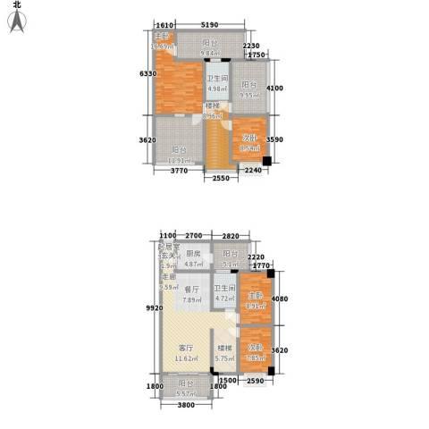 骏辉雅苑4室0厅2卫1厨211.00㎡户型图